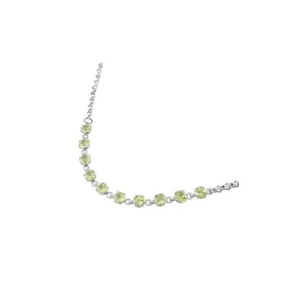 メンズ プラチナアンクレット ペリドット 8月の誕生石 カラーストーン プラチナ900 オリジナル チェーン 男性用 宝石 緑の宝石 送料無料