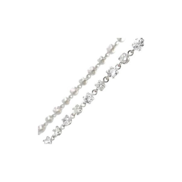メンズ フルエタニティ アンクレット ダイヤモンド ダイヤ2.5ct フルエタニティー ホワイトゴールドK18 オリジナル 18金 ダイヤ 男性用 送料無料