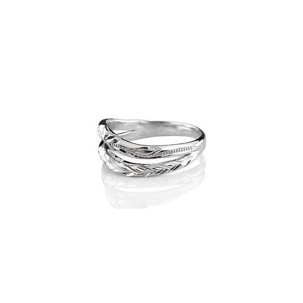 ハワイアン ハードプラチナ950 ペアリング 結婚指輪 マリッジリング ミル打ち 地金リング pt950 ストレート カップル クリスマス 女性