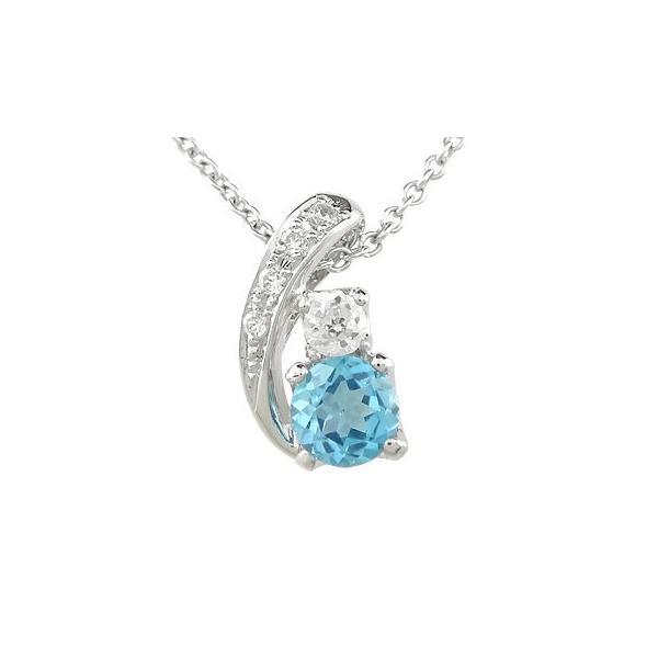 ブルートパーズ ダイヤモンド 選べる天然石 プラチナ ヘッド チャーム ネックレス ペンダントトップ 大粒 ダイヤ 宝石 送料無料