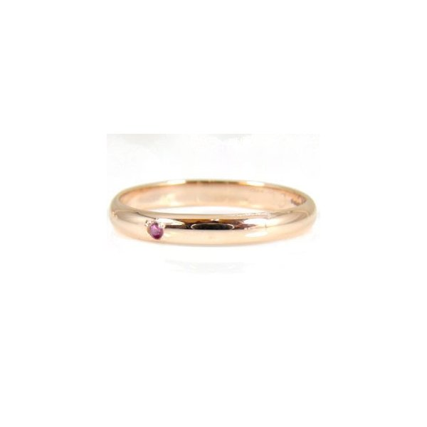 結婚指輪 甲丸 指輪 ペア マリッジリング ペアリング 人気 ルビー ピンクゴールドk18 18金 ストレート カップル 2.3 レディース 最短納期 クリスマス 女性