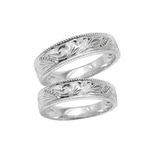 ハワイアンジュエリー プラチナ 結婚指輪 マリッジリング ペアリング ミル打ち シンプル 人気 クリスマス 女性