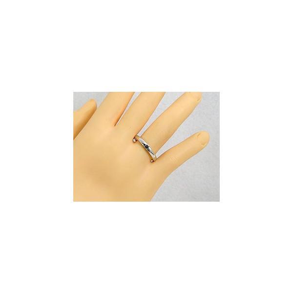 マリッジリング 鑑定書着き 結婚指輪 ペアリング 一粒ダイヤモンド ブラックダイヤモンド ホワイトゴールドk18 SI 結婚式 18金 ダイヤ ストレート カップル