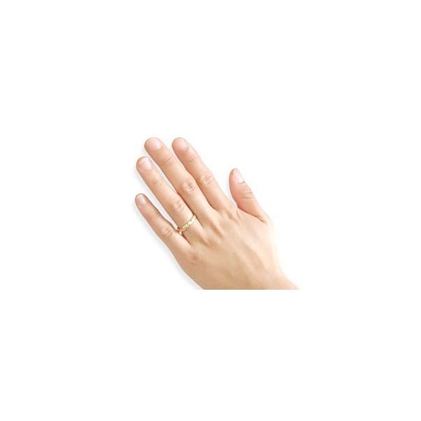 ペアリング 結婚指輪 マリッジリング 一粒 イエローゴールドk18 結婚式 18金 ストレート カップル クリスマス 女性