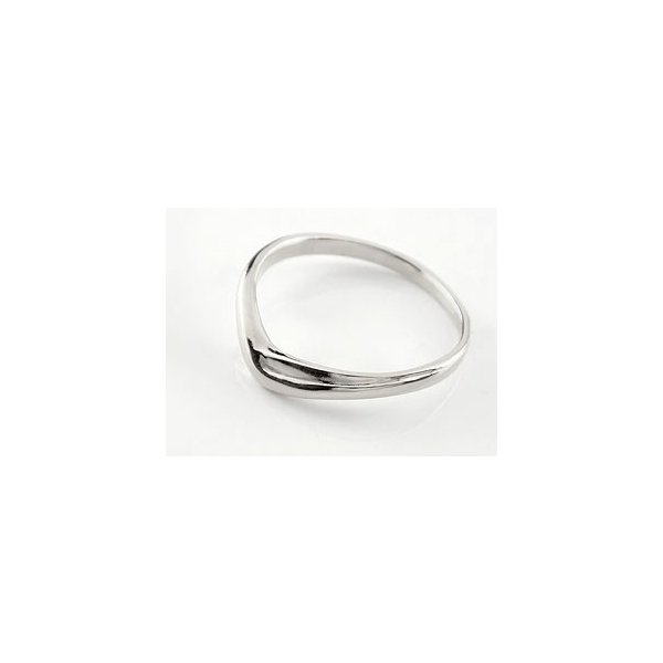 V字 ペアリング 結婚指輪 マリッジリング キュービックジルコニア シルバー ウェーブリング カップル クリスマス 女性