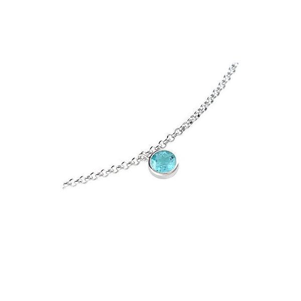メンズ ブルートパーズ プラチナ アンクレット チェーン 男性用 宝石 青い宝石 送料無料