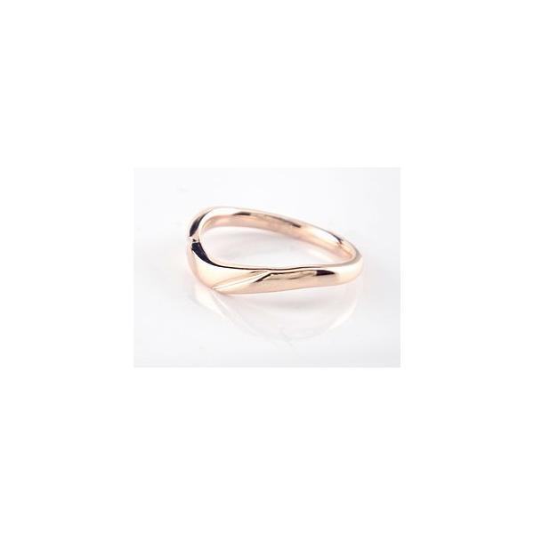 ペアリング 結婚指輪 ダイヤモンド マリッジリング ピンクゴールドk18 結婚式 ダイヤ 18金 ストレート カップル クリスマス 女性