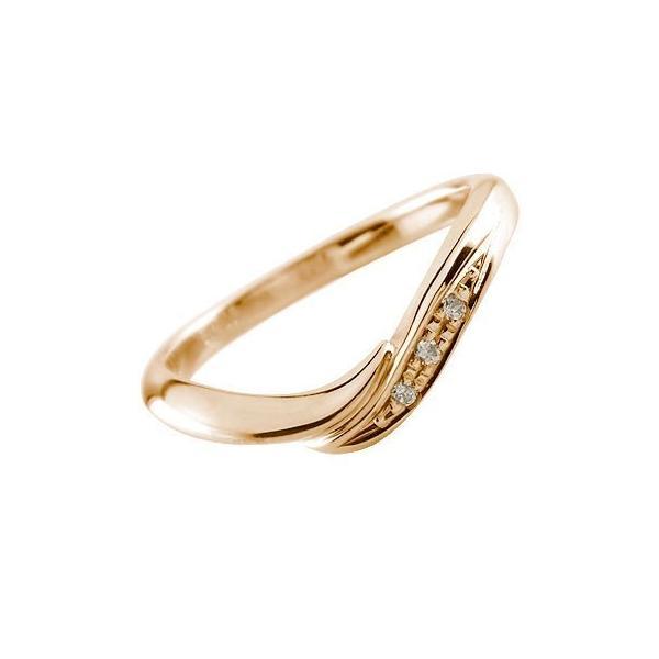 婚約指輪 エンゲージリング ダイヤモンド ピンクゴールドk18 18金 ダイヤモンドリング ダイヤ ストレート スリーストーン クリスマス 女性