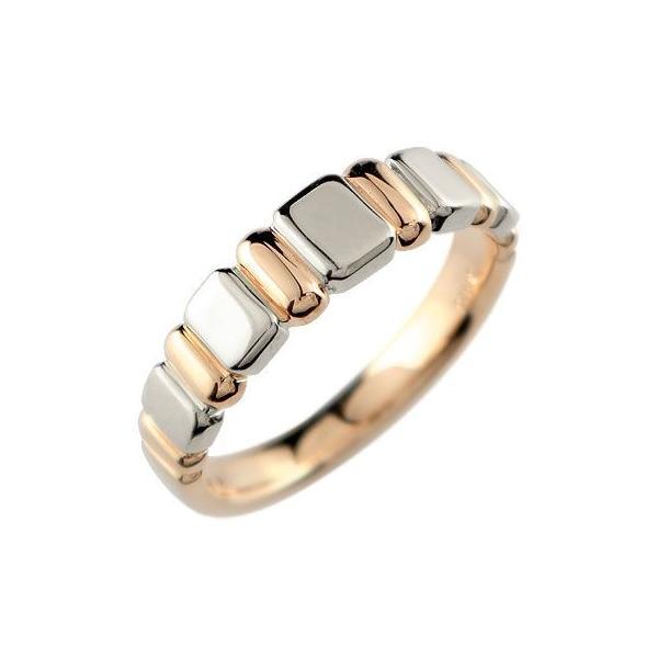 リング ゴールド ピンキーリング ピンクゴールドk18 プラチナ指輪 地金リング 宝石なし 18金 ストレート 送料無料