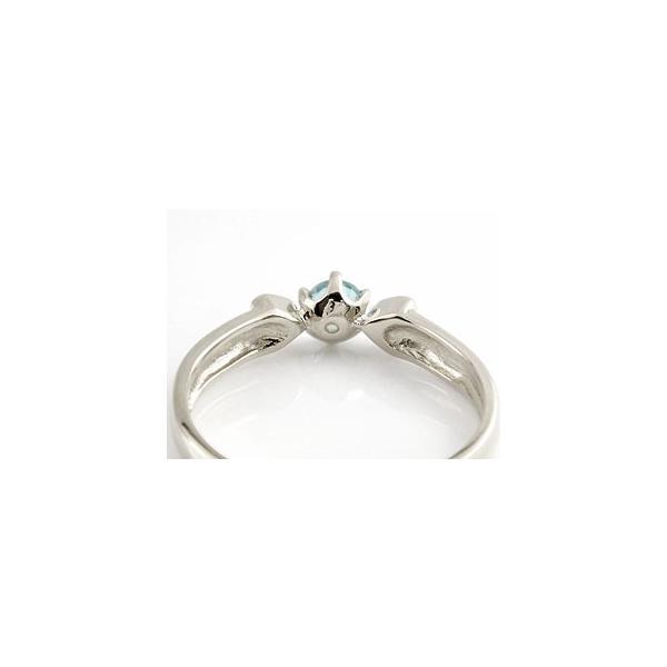 ピンキーリング ブルートパーズ プラチナ リング ハート 指輪 11月誕生石 クリスマス 女性