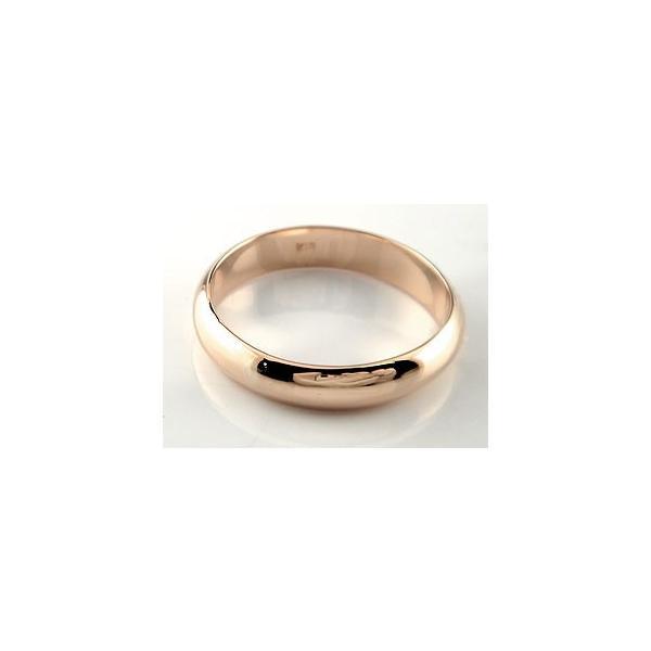 ストレート マリッジリング 甲丸 結婚指輪 ペアリング ピンクゴールドk18 地金リング 宝石なし 結婚式 18金 カップル メンズ レディース クリスマス 女性