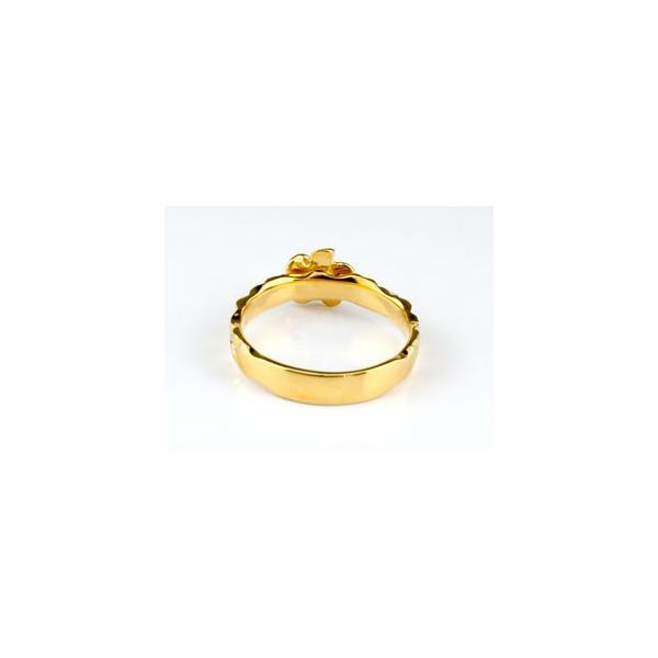 ピンキーリング ハワイアンジュエリー リング 指輪 イエローゴールドk18 ハワイアンリング 地金リング 18金 k18yg ストレート 母の日