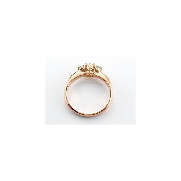 ピンキーリング 鑑定書付 ダイヤモンド リング エメラルド 指輪 大粒 ダイヤ ピンクゴールドK18 18金 ダイヤモンドリング ダイヤ ストレート 宝石