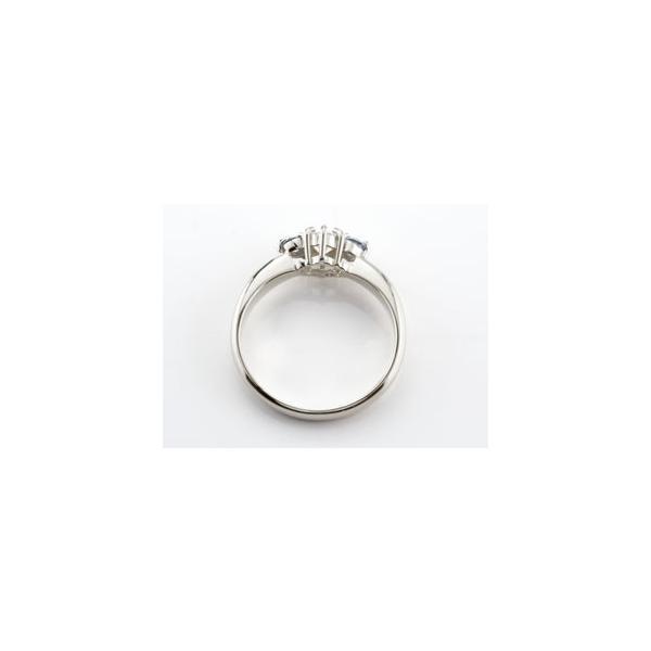 鑑定書付き 婚約指輪  エンゲージリング ダイヤモンド リング タンザナイト 指輪 大粒 ダイヤ ホワイトゴールドK18 18金 ダイヤ ストレート 宝石