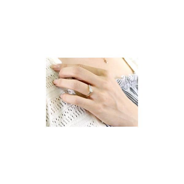 ピンキーリング エンゲージリング プラチナ ダイヤモンド 婚約指輪 リング 指輪 リング V字 pt900 レディース ウェーブリング スリーストーン クリスマス 女性