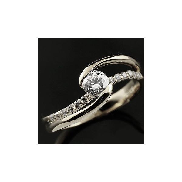c084cb2a13cf3e 婚約指輪 安い エンゲージリング ダイヤモンド リング 指輪 ホワイトゴールドk18 大粒 一粒 レディース 18 ...