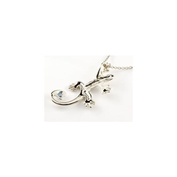 トカゲ ネックレス サファイア ダイヤモンド ペンダント シルバー ハート 9月誕生石 レディース チェーン 人気 ダイヤ 宝石 クリスマス 女性