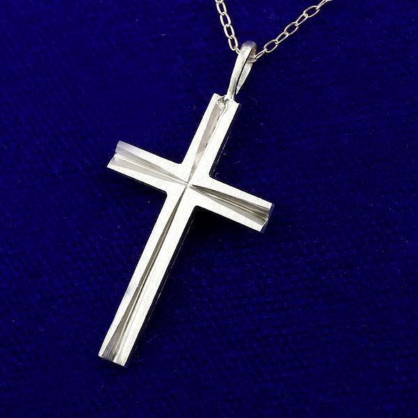 プラチナ999 純プラチナ クロス 十字架 ペンダント ネックレス チャーム 人気 レディース pt999 ホーニング加工 クリスマス 女性