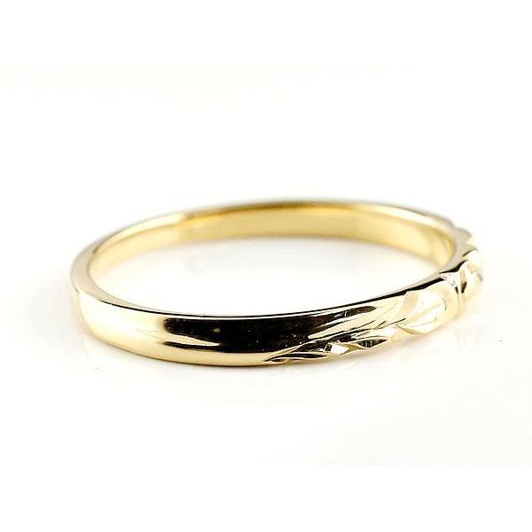 結婚指輪 安い ハワイアンジュエリー ペアリング 結婚指輪 マリッジリング プラチナ イエローゴールドk18 ハワイアンリング 地金 pt900 カップル 母の日