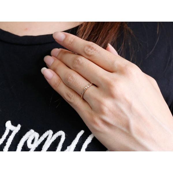 ハワイアンジュエリー ペアリング 結婚指輪 マリッジリング ホワイトゴールドk10 ピンクゴールドk10 ハワイアンリング ストレート 地金 k10 カップル  女性