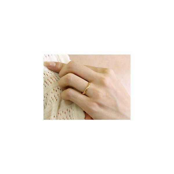 ペアリング 結婚指輪 マリッジリング 地金リング ピンクゴールドk18 ホワイトゴールドk18 つや消し 18金 ストレート スイートペアリィー クリスマス 女性