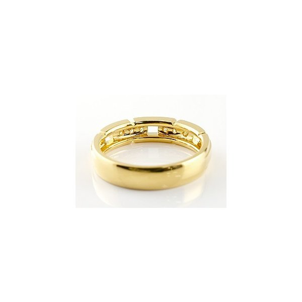 婚約指輪 エンゲージリング ダイヤモンド リング 幅広 指輪 ピンキーリング ダイヤ ダイヤモンドリング イエローゴールドk18 18金 レディース ストレート