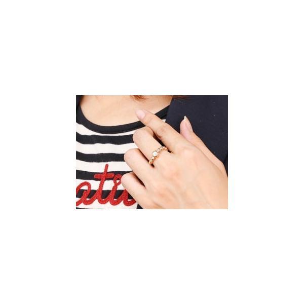 ピンキーリング 鑑定書付 ダイヤモンド 指輪 丸玉 ボールリング ピンクゴールドk18 S字 カーブ ダイヤ ダイヤモンドリング 一粒 大粒 VS レディース 18金