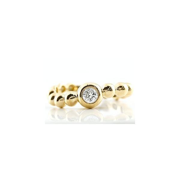 鑑定書付き 婚約指輪  エンゲージリング ダイヤモンド 指輪 イエローゴールドk18 S字 カーブ ダイヤ ダイヤモンドリング 一粒 大粒 VSクラス レディース 18金