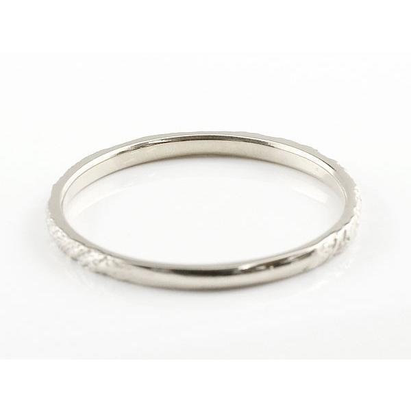 ピンキーリング 婚約指輪 エンゲージリング ダイヤモンド 一粒 ホワイトゴールドk10 極細 10金 華奢 アンティーク ストレート 指輪 クリスマス 女性