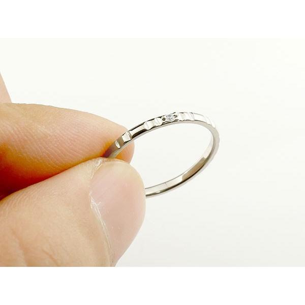ピンキーリング エンゲージリング 婚約指輪 ダイヤモンド ハードプラチナ950リング 一粒 pt950 極細 華奢 ストレート 指輪 クリスマス 女性