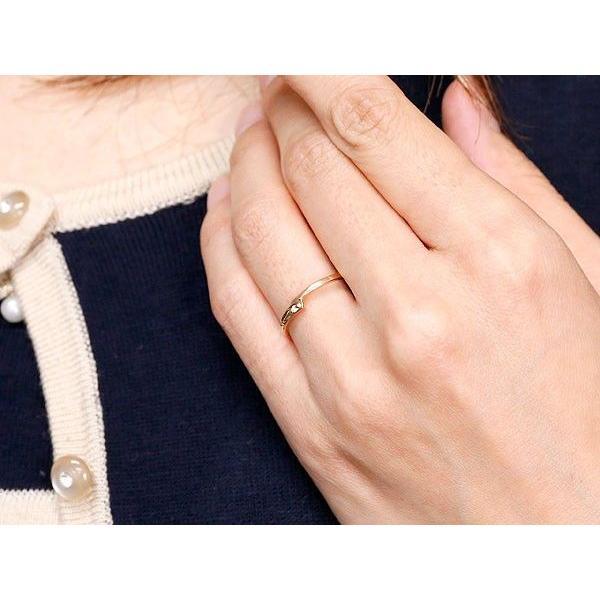 結婚指輪 ペアリング マリッジリング ダイヤモンド ピンクゴールドk18 ホワイトゴールドk18 一粒 18金 華奢 スパイラル スイートペアリィー  最短納期