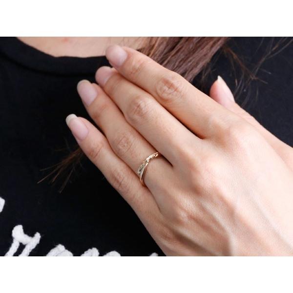 ハワイアンジュエリー ペアリング 結婚指輪 マリッジリング ホワイトゴールドk18 ピンクゴールドk18 ハワイアンリング スパイラル 地金 k18 カップル  女性