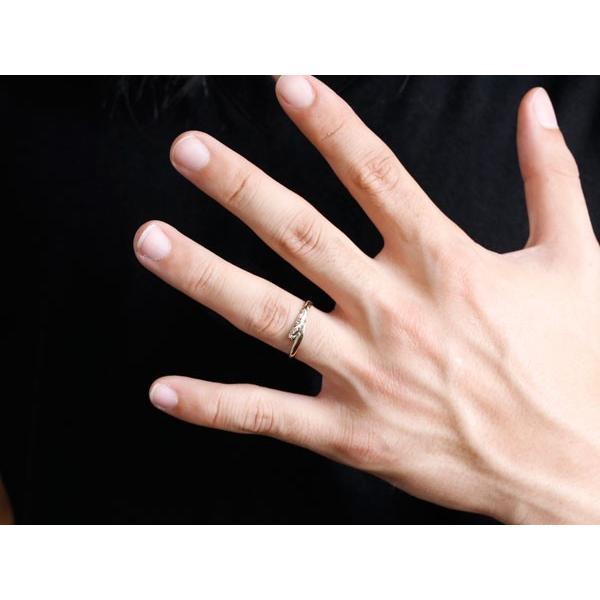 ハワイアンジュエリー ペアリング 結婚指輪 マリッジリング ホワイトゴールドk10 ハワイアンリング スパイラル 地金 k10 カップル  女性 母の日