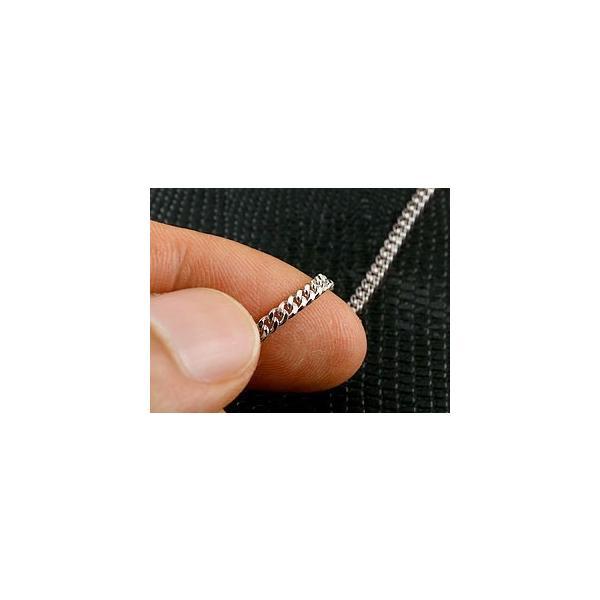 喜平 プラチナロングネックレス 2面カット 2.3ミリ幅 チェーン 90cm 鎖 レディース pt850 キヘイ 地金ネックレス