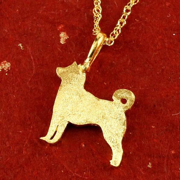 24金ネックレス 純金 レディース ゴールド 犬 24K 柴犬 ペンダント ゴールド k24 チェーン 45cm いぬ イヌ 犬モチーフ 送料無料