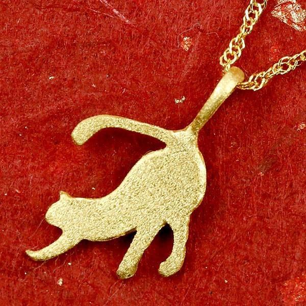 24金ネックレス 純金 レディース ゴールド 猫 24K ペンダント ゴールド k24 チェーン 45cm ねこ ネコ 猫モチーフ 送料無料