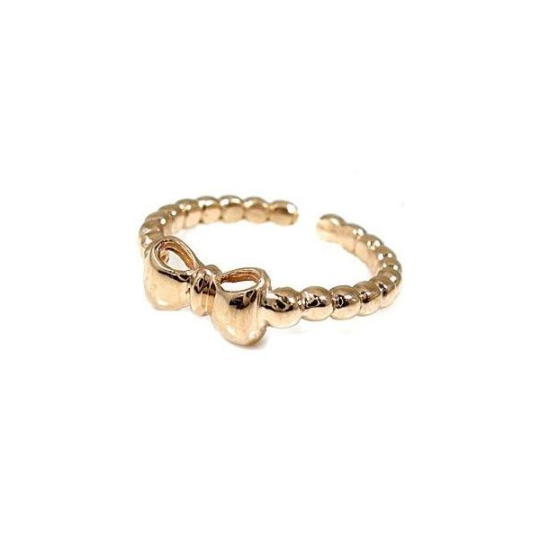 スイートハグリング ペアリング 結婚指輪 マリッジリング ホワイトゴールドk18 ピンクゴールドk18 リボン フリーサイズリング 指輪 ハンドメイド 結婚式 18金