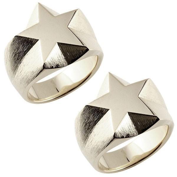 結婚指輪 ペアリング メンズ 星 印台 指輪 ホワイトゴールドk18 18金 男性用 リング トラスト クリスマス 女性