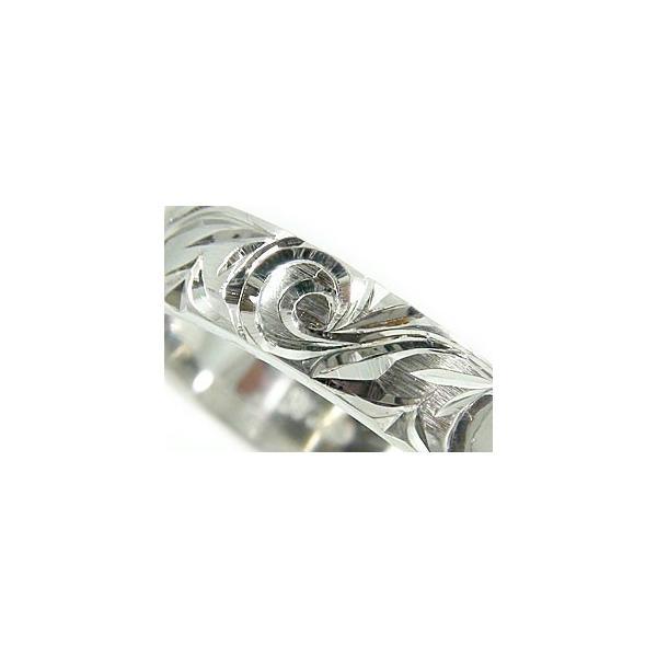 メンズ ペアリング ハワイアン ホワイトゴールドk18 スクロール 波 マイレ 葉 指輪 k18 男性用 宝石なし トラスト  プレゼント 女性