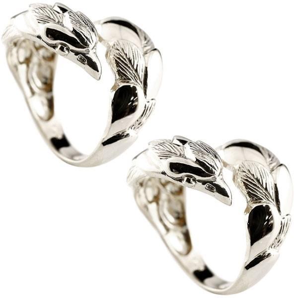 ペアリング プラチナ 2本セット PT900 フェザー 羽 メンズ イーグル 鷹 フェザー 幅広 指輪 男性用 地金リング フリーサイズ トラスト クリスマス 女性