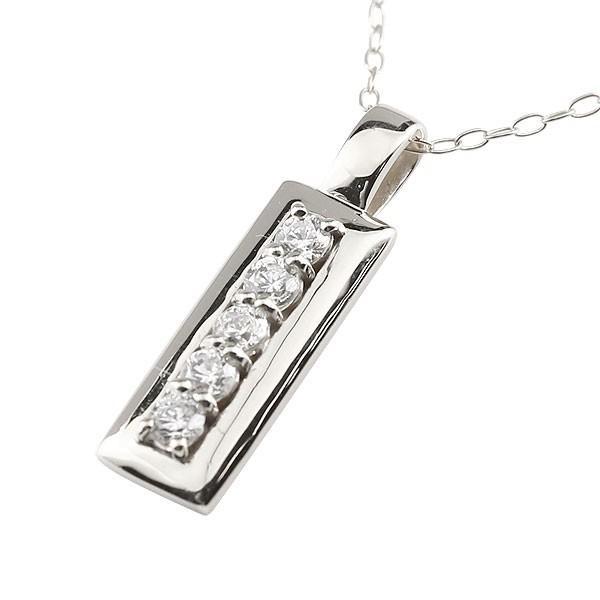 ダイヤモンド ネックレス ホワイトゴールドk18 バータイプ ペンダント チェーン 人気 4月誕生石 18金 レディース クリスマス 女性