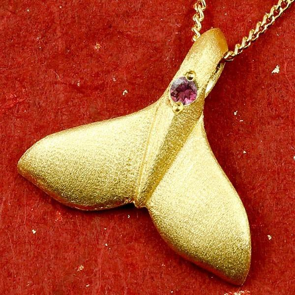24金 ネックレス トップ メンズ ハワイアンジュエリー 純金 ホエールテール クジラ 鯨 ルビー ゴールド 天然石 7月誕生石 k24 人気 宝石 赤い宝石 送料無料