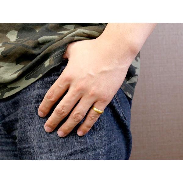 純金 24金 ゴールド k24 幅広 指輪 ピンキーリング 婚約指輪 エンゲージリング  ホーニング加工 つや消し 地金リング 11-15号 ストレート レディース