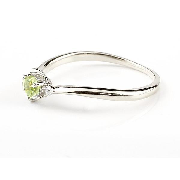 エンゲージリング イニシャル ネーム A 婚約指輪 ペリドット ダイヤモンド シルバー 指輪 アルファベット レディース 8月誕生石 人気 クリスマス 女性