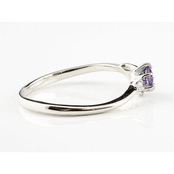 エンゲージリング イニシャル ネーム F 婚約指輪 アメジスト ダイヤモンド プラチナ 指輪 アルファベット レディース 2月誕生石 人気 クリスマス 女性