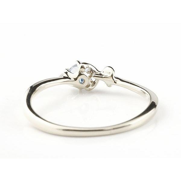 エンゲージリング イニシャル ネーム H 婚約指輪 ブルームーンストーン ダイヤモンド ホワイトゴールドk10 指輪 アルファベット 10金 レディース 6月誕生石