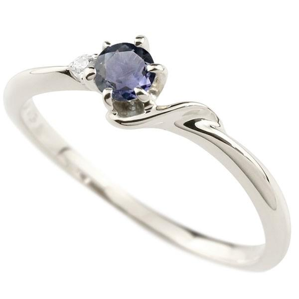 婚約指輪 安い エンゲージリング イニシャル ネーム S 婚約指輪 アイオライト ダイヤモンド プラチナ 指輪 アルファベット レディース 人気  女性 送料無料|atrusyume|01