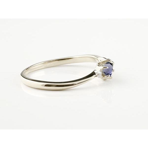 婚約指輪 安い エンゲージリング イニシャル ネーム S 婚約指輪 アイオライト ダイヤモンド プラチナ 指輪 アルファベット レディース 人気  女性 送料無料|atrusyume|02