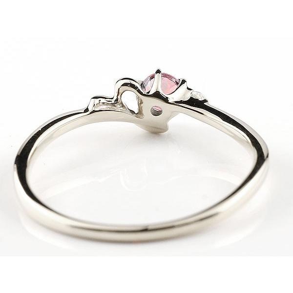 ピンキーリング イニシャル ネーム Y ピンクトルマリン ダイヤモンド 華奢リング シルバー 指輪 アルファベット レディース 10月誕生石 人気 クリスマス 女性