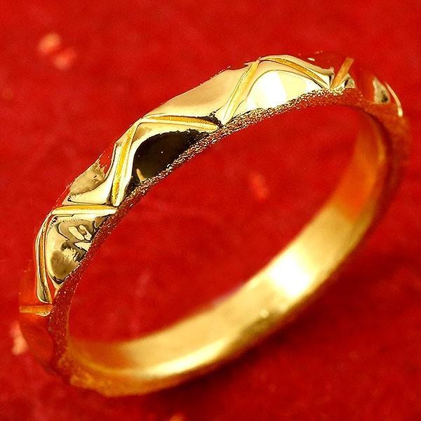 純金 メンズ 24金 ゴールド k24 指輪 ピンキーリング ホーニング加工 鏡面加工 婚約指輪 エンゲージリング 地金リング 22-26号 ストレート 送料無料